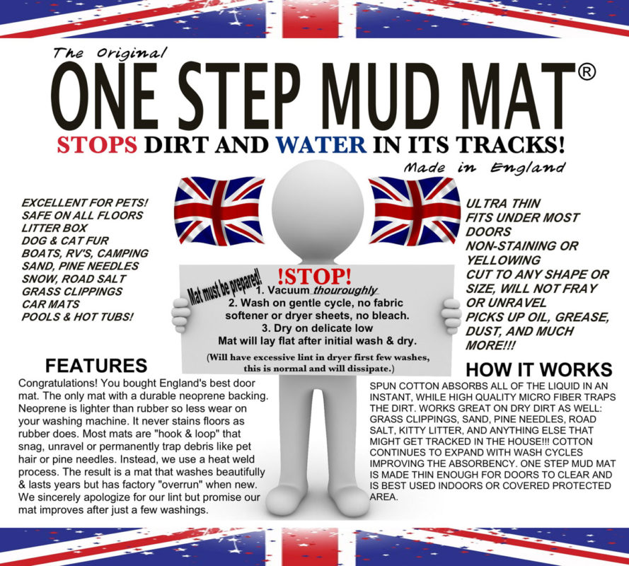 One Step Mud Mat Chameleon Brand Co